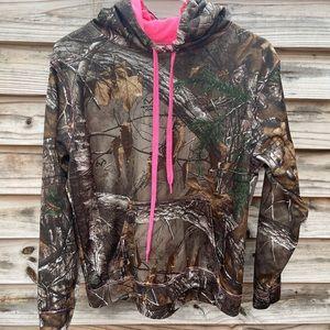 Real tree pink/camo hoodie